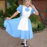 Alice at United Kingdom in Epcot