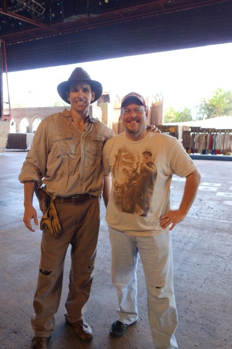 Indiana Jones at Hollywood Studios after his show 2012