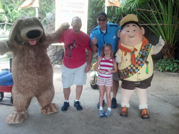 Dug and Russell at Animal Kingdom 2012