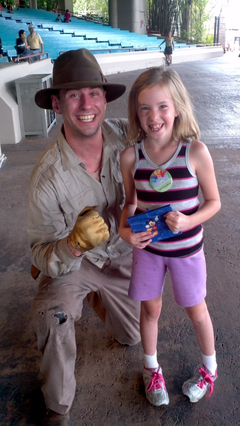 Indiana Jones at Hollywood Studios after his show 2012