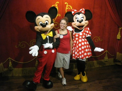 Mickey and Minnie at Town Square Theater in Magic Kingdom 2011