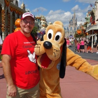 Pluto at Town Square in Magic Kingdom