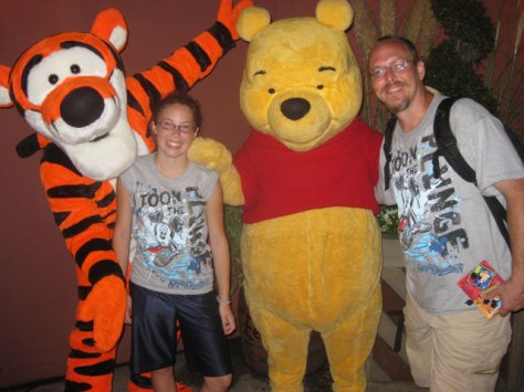 Tigger and Pooh Fantasyland Magic Kingdom 2011