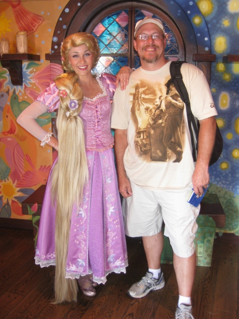 Rapunzel in Disneyland 2012