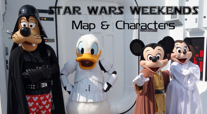 Star Wars Weekends Map and Characters