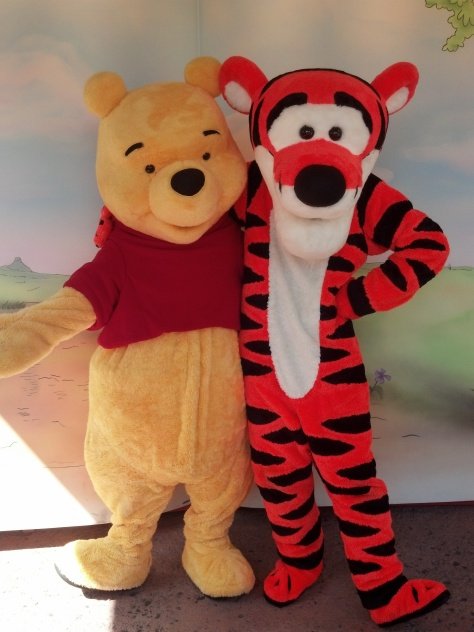 Tigger and Pooh Fantasyland Magic Kingdom 2012