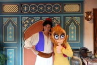 Abu and Aladdin at Mickey's Not So Scary Halloween Party in the Magic Kingdom Disney World Character meet and greet 2012