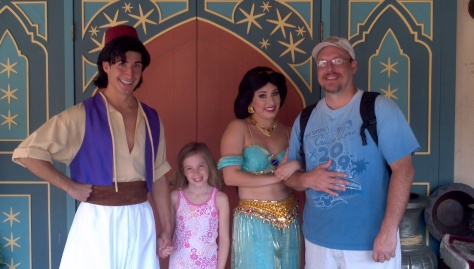 Aladdin and Jasmine - Magic Kingdom 2012