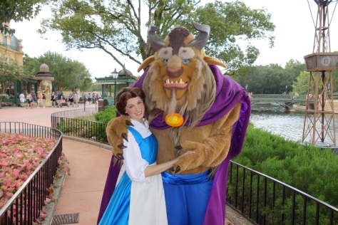 Beast with Belle in France September 2012.  Rumor has it that he will be leaving Epcot in favor of dinner photo ops at his new restaurant.