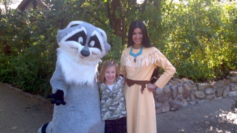 Pochahontas and Meeko Animal Kingdom 2011