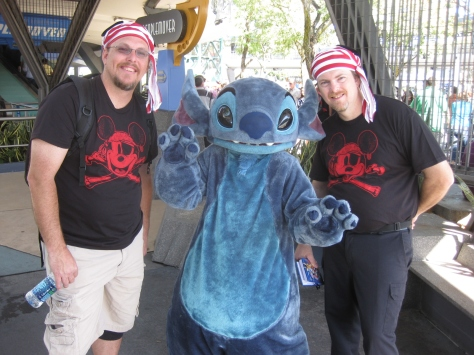 Stitch in Tomorrowland Magic Kingdom 2010