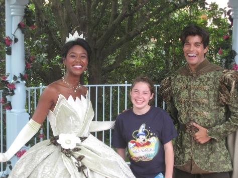 Tiana and Naveen Magic Kingdom 2009