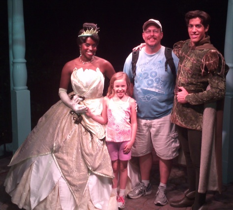 Tiana  with Naveen - Magic Kingdom 2012
