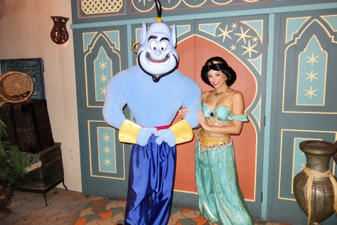 Genie and Jasmine at Mickey's Not So Scary Halloween Party - September 2012