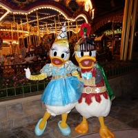 Knight Donald and Princess Daisy at Mickey's Not So Scary Halloween Party