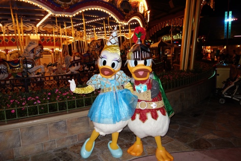 Knight Donald and Princess Daisy at Mickey's Halloween Party - September 2012