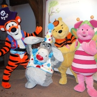 Tigger, Eeyore, Pooh and Piglet at Mickey's Not So Scary Halloween Party