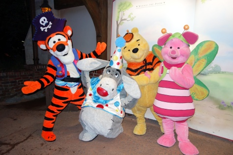 Tigger, Eeyore, Winnie the Pooh and Piglet as they appeared at Mickey's Not So Scary Halloween Party - September 2012