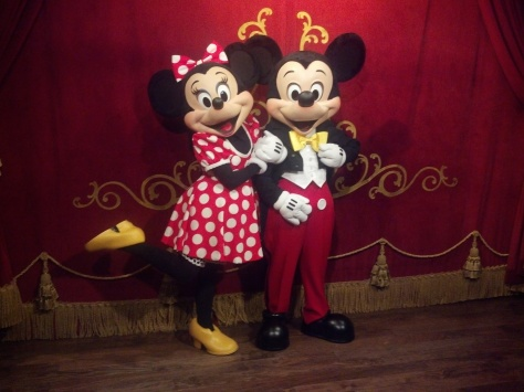 Mickey and Minnie at Town Square Theater in Magic Kingdom 2012
