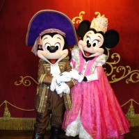 Mickey and Minnie in both costumes at Mickey's Not So Scary Halloween Party