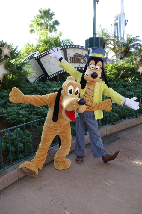 Pluto and Goofy at Hollywood Studios 2012
