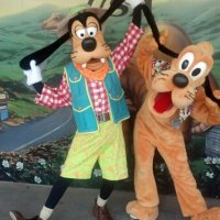 Goofy and Pluto in Dinoland at Animal Kingdom