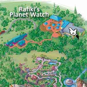 Walt Disney World, Animal Kingdom, Map, Rafiki's Planet Watch
