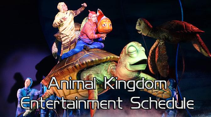 Animal Kingdom Entertainment Schedule, Animal Kingdom Times Guide KennythePirate, EasyWDW, WDW Prep School, Allears, Undercovertourist, touringplans, dadsguidetowdw, yourfirstvisit