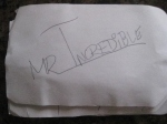 Mr Incredible Autograph