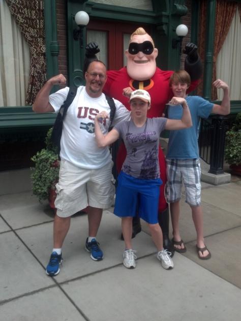 Mr. Incredible at California Adventure 2012