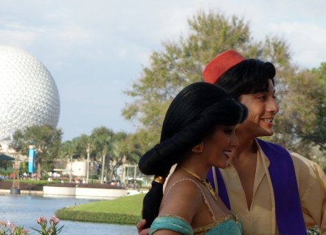 Aladdin and Jasmine Profile EPCOT 2013