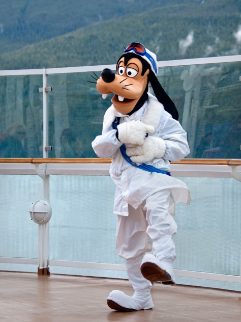 Goofy as he appears in his Alasaka Gear.  Copyright Peter E. Lee