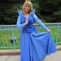 Worldwide Wednesdays:  Sleeping Beauty characters and Aurora's blue dress.