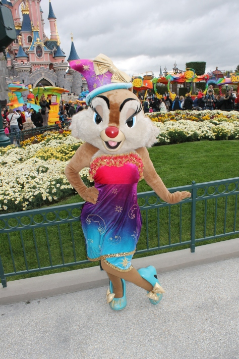 Clarice in her 20th Anniversary outfit. She can be seen in this outfit daily during the 20th Anniversary Celebration