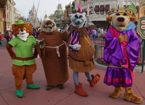 Walt Disney World, Magic Kingdom, Limited Time Magic, Long-lost friends week, Robin Hood, Friar Tuck, Sheriff of Nottingham, Prince John