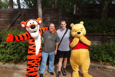 Tigger and Pooh Splash Mountain Exit 2012