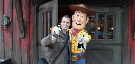 EuroRob with Woody at Disneyland Paris