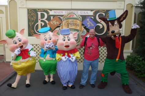 Walt Disney World, Magic Kingdom, Limited Time Magic, Long-lost Friends, Three Little Pigs, Big Bad Wolf
