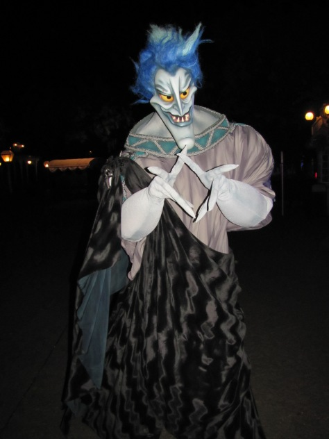 Hades meeting at Disneyland Paris Halloween Soiree