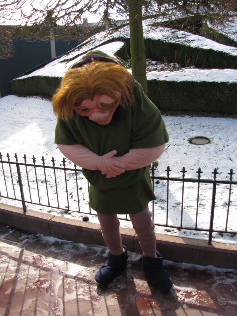 Quasimodo made a rare appereance on Valentine Day 2010, you can't find him normally at the Parks