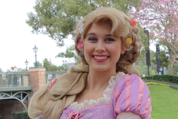 Rapunzel at the International Gateway in Epcot (training) 2013
