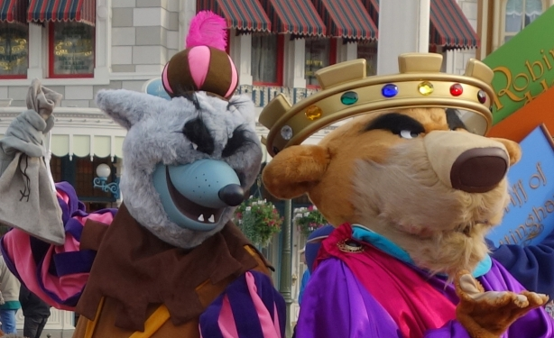 Sheriff of Nottingham and Prince John at Long Lost Friends Week at the Magic Kingdom Jan 2012