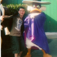 Launchpad McQuack, Darkwing Duck, Stromboli and Sebastian at Walt Disney World