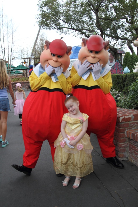 Tweedle Dee and Tweedle Dum with a lovely princess!