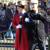 Very rare Nanny Poppins and Chimney Sweep Bert photo opportunity today.