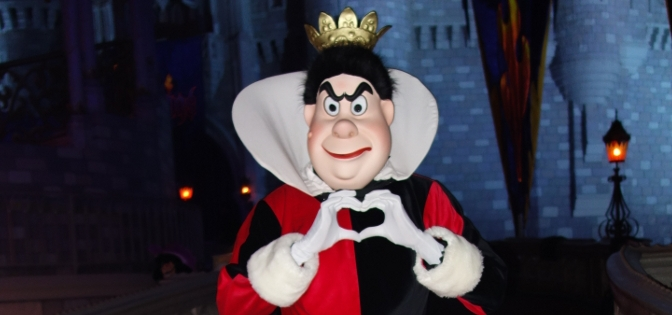 Queen of Hearts at Mickey's Not So Scary Halloween Party