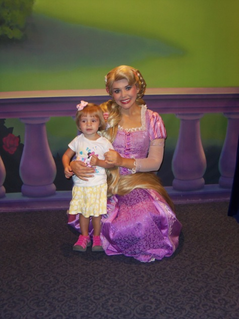 They began their morning with Princess meets at Town Square Theater.