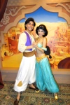 Aladdin and Jasmine Disney World Character meet and greet in Epcot