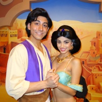 Aladdin and Jasmine in their new/old location in Epcot.