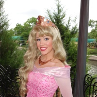Princess Aurora's new dress in France at Epcot